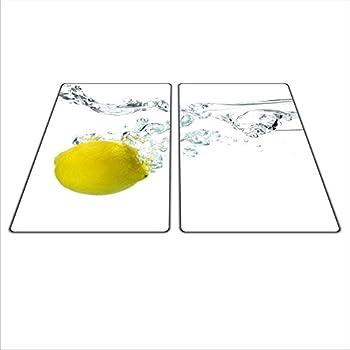 Herdschutz aus Glas 2x 29x52 für Ceran//Induktion olive motiv