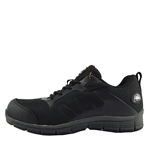 Kick Footwear - Groundwork - Scarpe Unisex Adulto ,Scarpe antinfortunistiche uomo Stivali da neve uomo - UK 9 / EU 43, Nero-Grigio