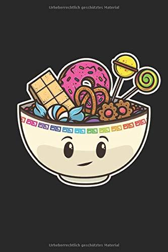 Sketchbook: 109 Seiten A5 - Gerahmte Seiten - Skizzenbuch - Zeichenbuch - Tolles Geschenk für Kinder und Freunde - Süße Lustige Kawaii Chibi Süßigkeiten Zum Naschen -