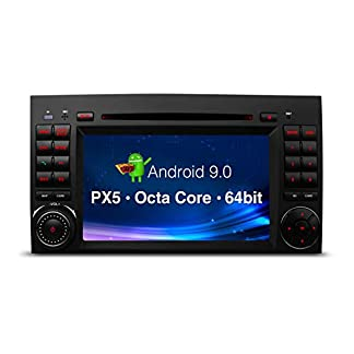 XTRONS-7-Android-Autoradio-mit-Touchscreen-Android-90-DVD-Player-mit-Octa-Core-Auto-Autostereo-untersttzt-3G-4G-Bluetooth-4GB-RAM-32GB-ROM-DAB-OBD2-CAR-Auto-Play-TPMS-FR-Mercedes-Benz
