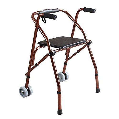 Dream Gehhilfe mit Rädern Aluminium kann sitzen klappbar Multifunktions leicht verstellbar Höhe Ältere Behinderte Menschen Produkt