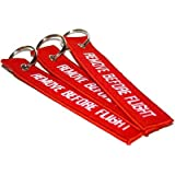 3 Remove Before Flight Key Chain Aviation ATV UTV Motorcycle Pilot Crew Tag Lock by Power Bulbs