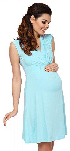 Zeta Ville - Maternité Robe trapèze de grossesse d'allaitement - femme - 808c Bleu Clair