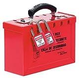 Master Lock ML498A Gruppen-Sicherheitsbox aus Stahl, rot
