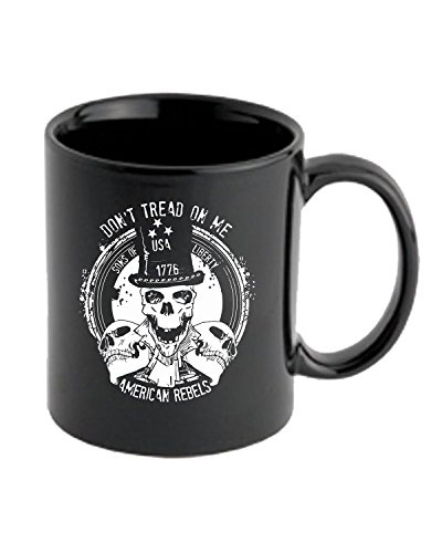 T-Shirtshock - Tazza 11oz TM0621 dont tread on me american rebels, Taglia 11oz