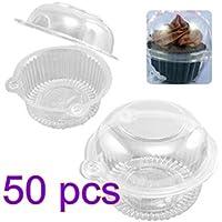 fendii Cupcake Cupcake singolo, trasparente plastica Cupcake Holders