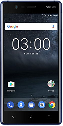 Nokia 3 DUAL SIM Smartphone - VERSION 2017 deutsche Ware (12,7 cm (5 Zoll), 8MP Hauptkamera, 8MP Frontkamera, 2GB RAM, 16GB interner Speicher, MP3 Player, Android 8.0 Oreo) tempered blue