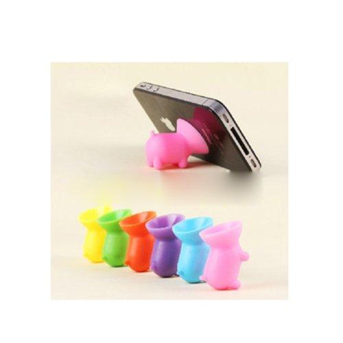 HuntGold Universal Schwein Cuction Cup Handyhalter für iPhone 4 5S Galaxy S4 Nokia HTC (zufällige Farbe)