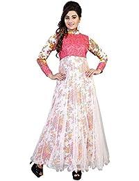 19 Likes Women's Net Dress Material (MUMRYGOS026WH_White_42)