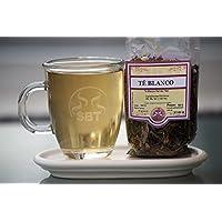 SABOREATE Y CAFE THE FLAVOUR SHOP Té Blanco Pai Mu Tan en Granel Hebra Hoja Infusión Natural Bolsa 50 gramos