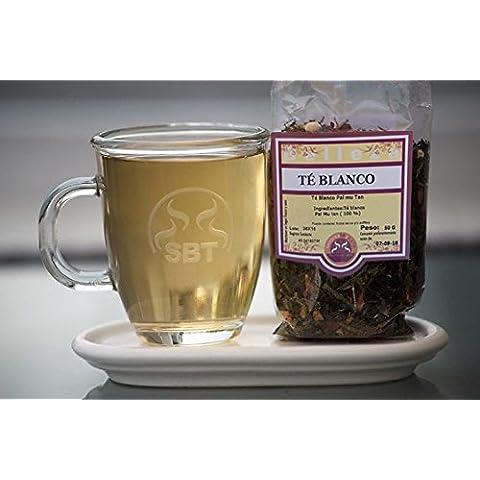 Té Blanco Pai Mu Tan en Hebra, saboreateycafe - Bolsa 50 grs - Cultivado en China en cuidados jardines - Suave y delicioso sabor - Bajo en teína - Recolectado manualmente - Cosecha del año que garantiza un té fresco - Elaboración artesanal - 100 % primeras yemas de la planta del té de excelente calidad - No contiene alérgenos, Sin gluten - Apto para celíacos