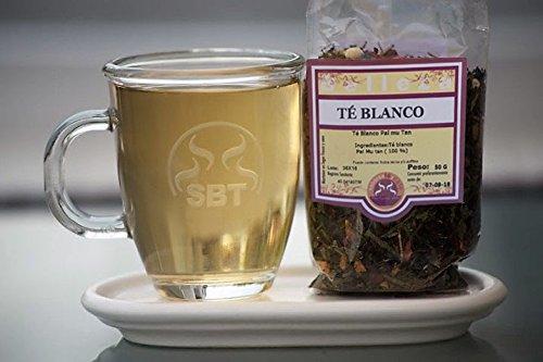 Thé blanc Pai Mu Tan Hebra, saboreateycafe - Sachet de 50 grammes - Grown en Chine dans les jardins manucurés - goût doux et délicieux - Low protéines - manuellement - Réunis campagne agricole qui garantit thé frais - à la main - 100% premiers bourgeons l'usine de thé d'excellente qualité - pas contenir des allergènes, de gluten - Convient pour les cœliaques