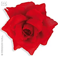 Red Rose Hairclip Accessory for Tropical Hawiian Fancy Dress