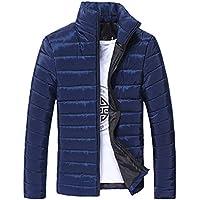 MEIbax Chaqueta con cremallera de lana cálida de invierno de hombre Pullover abrigo Cárdigan Outwear Chaqueta de Abrigo de algodón con Cremallera de Invierno cálido para Hombre
