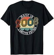 13° compleanno ragazzo 13 anni 2008 regalo divertente Maglietta