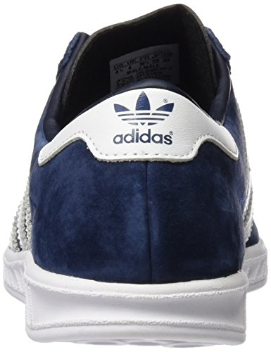 adidas Unisex-Erwachsene Hamburg Low-Top Blau (Collegiate Navy/Ftwr White/Gold Met)