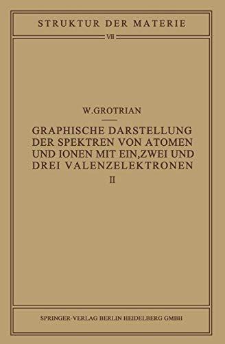 Graphische Darstellung der Spektren von Atomen und Ionen mit ein, zwei und drei Valenzelektronen: Zweiter Teil (Struktur der Materie in Einzeldarstellungen) (German Edition)