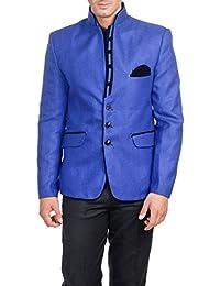 Wintage Men's Rayon Modified Bandhgala Festive Nehru Blazer- Two Colors Available