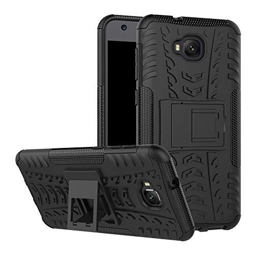 LFDZ ASUS Zenfone 4 Selfie Hülle, Abdeckung Cover schutzhülle Tough Strong Rugged Shock Proof Heavy Duty Case Für ASUS Zenfone 4 Selfie / ZD553KL Smartphone (mit 4in1 Geschenk verpackt),Schwarz