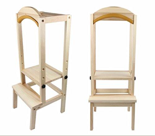 chuck & blair Kids Kinder Holz Küche Helper Badezimmer Hocker Learning Stuhl DIY Zäune verstellbar