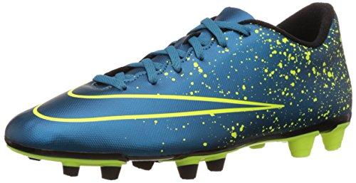 Nike Mercurial Vortex 2 Fg, Chaussures de football homme Bleu / Noir / Vert (Escadron Bleu / Sqdrn-Bl-Blk ALV)