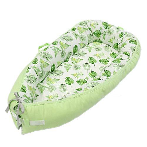 Leaf Liege (GXFLO Baby-Liege, Tragbare Super Weich Und Atmungsaktiv Neugeborenen Babywiege, Neugeborenen Cocoon Snuggle Bed,Leaves)