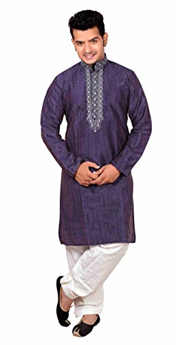 ndische Fancy Sherwani Kurta Shalwar Kameez für Bollywood-Thema Pyjama 822 (36 (S - UK), Marineblau) (Western Themen Fancy Dress)