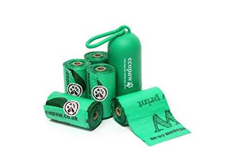 ecopaw Dog Poo Bags   Biodegradable   300 Large Poop Bags   Scented   20 Rolls of Strong Heavy Duty Bags   FREE Straw… 3