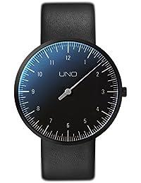 Botta Diseño de uno Titan black edition Reloj de pulsera–einzeiger Reloj, titanio, esfera negra, correa de piel