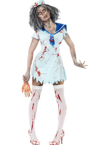 SMIFFYS Zombie Sailor Costume, Female