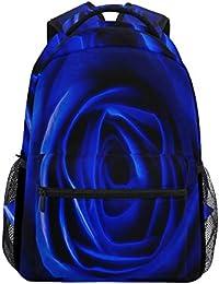 Wamika Close Up - Mochila Impermeable con diseño de Rosas, Color Azul