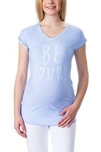bellybutton-schwangerschaftsmode-damen-t-shirt-sarah-t-shirt-1-4-arm-blau-skyway-3018-xs