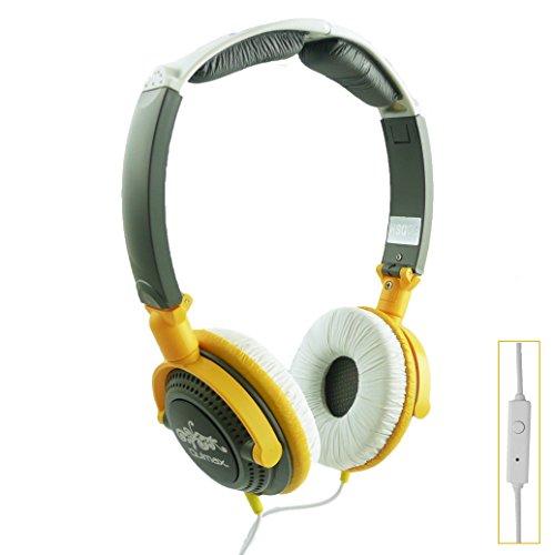Qulmax ® Excelvan BT-1077 / Excelvan BT-MT10 / Excelvan BT-1009 / Excelvan M-106M Tablet PC Amarillo Plegable Rotación HD Rotación HD Auriculares ( HSQ09 ) con Micrófono y Mando