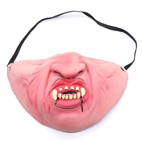 WSJDE Halloween Vampir Maske Haustier Hund Bulldog Lustige Halbe Gesicht Latex Simulation Mund Horror Maske Für Halloween Party Cosplay - Monster High Hunde Kostüm