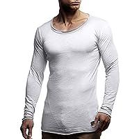 Hmeng Herren Casual Slim Fit Kurzarm Henley T-Shirts Baumwolle Shirts