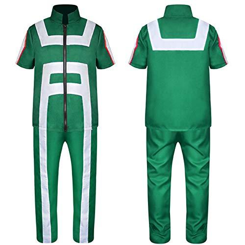 DuHLi My Hero Academia Polo T-Shirt Hosen Schwarz Cosplay Kostüme Sport College Gymnastik Anzug Halloween Kostüme für Männer Erwachsene Frauen,B,M (B&m Halloween Kostüme)