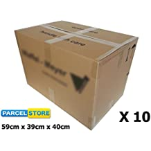 10 x LARGE Strong Heavy Duty Removal House Moving Cardboard Boxes (59cm x 40cm x 40cm)