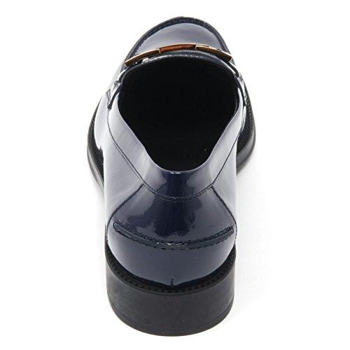 Tod's B7652 mocassino donna scarpa vernice blu chiaro shoe loafer woman Blu chiaro
