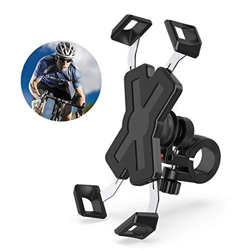 Fahrrad Handyhalterung,Proker Edelstahl Motorrad Fahrrad Handy Halterung Outdoor Motorrad Fahrrad Lenker Mit 360 Drehen für 4.0-7.0 Zoll Smartphone