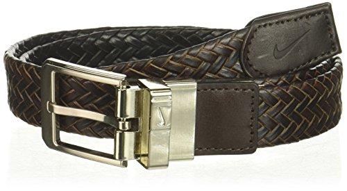 Nike Men's Braided G Flex Reversible Belt, Black/Brown, 40