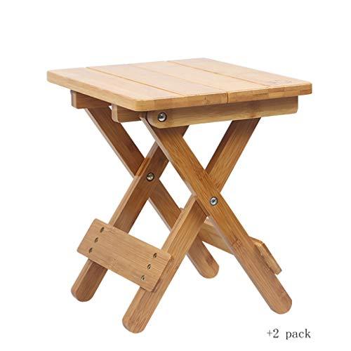 Zxb-shop Klappstühle Hochwertige Bambus Klappstuhl tragbare kleine Haushaltsbank Outdoor Angeln kleinen quadratischen Hocker Camping-Stühle (Color : B)