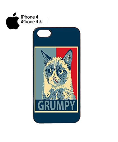 Grumpy Cat Funny Cats Animals Dog Dogs Painting Mobile Phone Case Cover iPhone 6 Plus + White Noir