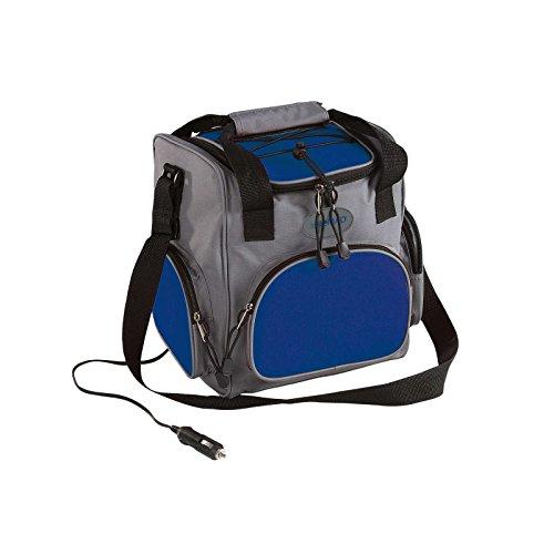 Elektrische Kühltasche mit 12 Volt-Anschluss Picknick Rucksack fürs Auto (Kühlbox 16 Liter, Isoliertasche Elektrisch, Grau-Blau, Picknick-Tasche)