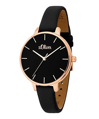 s.Oliver Damen-Armbanduhr Analog Quarz SO-3660-LQ