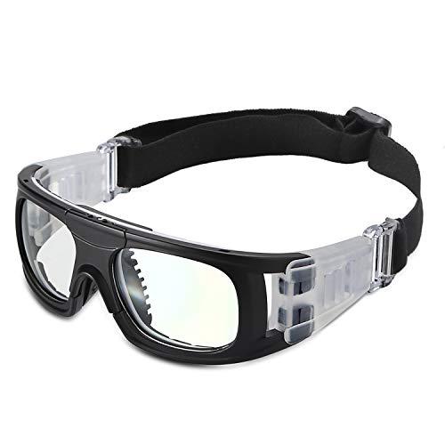 PELLOR Kinder Sportbrillen, Anti Beschlag Sicherheit Schutzbrille Kinder Sport Brille mit Verstellbarem Gurt für Basketball Fußball Volleyball (Weiß)