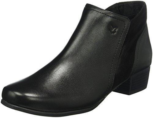 Caprice25307 - Stivali classici imbottiti a gamba corta Donna , Nero (Schwarz (BLK/BLK SUEDE 3)), 37