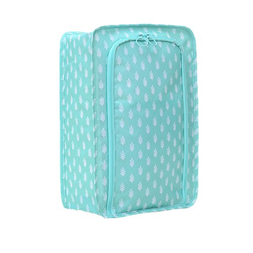 ElifeAcc Schuh-Taschen für Reisen, tragbar, wasserdicht, Schuhe, Taschen-Organizer-Tasche mit Packtaschen Nylon-Reißverschluss für Damen und Herren mit 7Farbe, Blauer Baum, Einheitsgröße (Schuh-baum-markt)