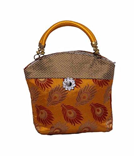 """Kuber Industriesâ""""¢ Women\'s Mini Handbag 10*10 Inches (Yellow)"""