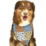 Wfispiy St. Patrick's Day Irish Pattern Ostern Dog Bandana Reversible Triangle Lätzchen für Hunde Haustier Tiere