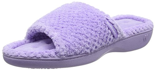 isotoner-women-popcorn-toe-mule-open-back-slippers-purple-lavender-4-uk-37-eu
